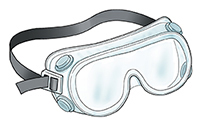 Goggles with hooded ventilation